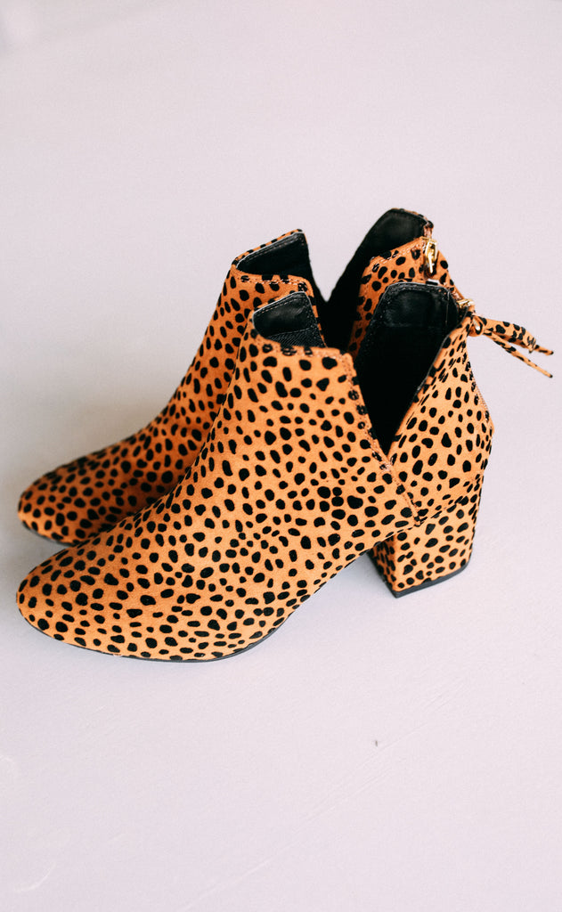 wild child leopard bootie