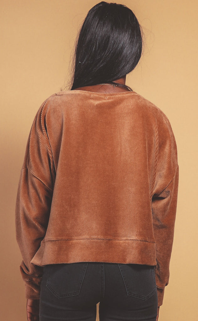 z supply: astrid cord pullover