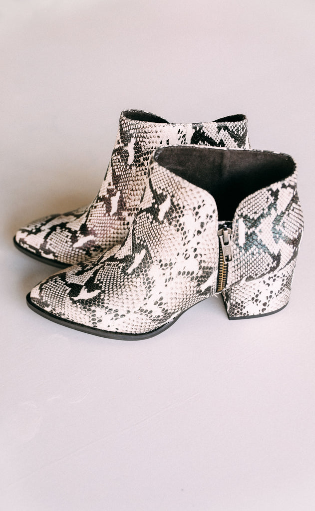 seychelles: chaparral booties - python