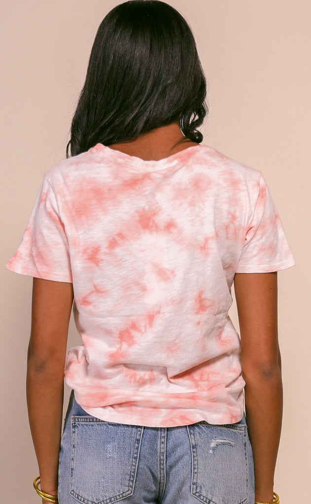 z supply: ultimate tie dye tee - coral almond
