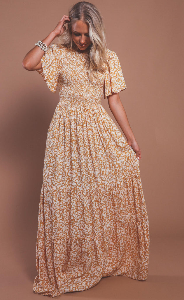 heart of gold floral maxi dress