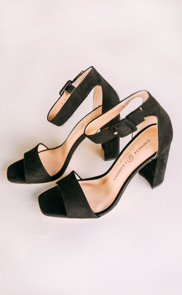 chinese laundry: jettie suede heel - black