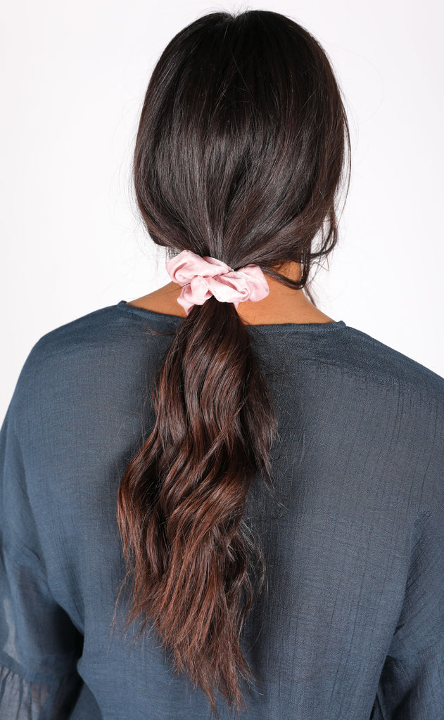 silky scrunchie duo - pink