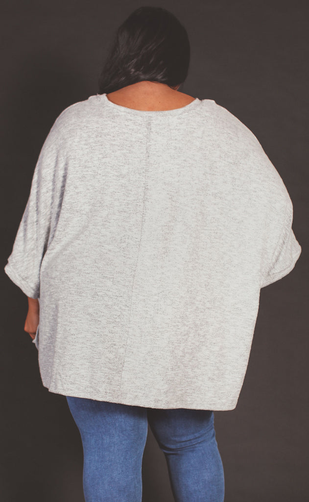 easy does it poncho top - extended