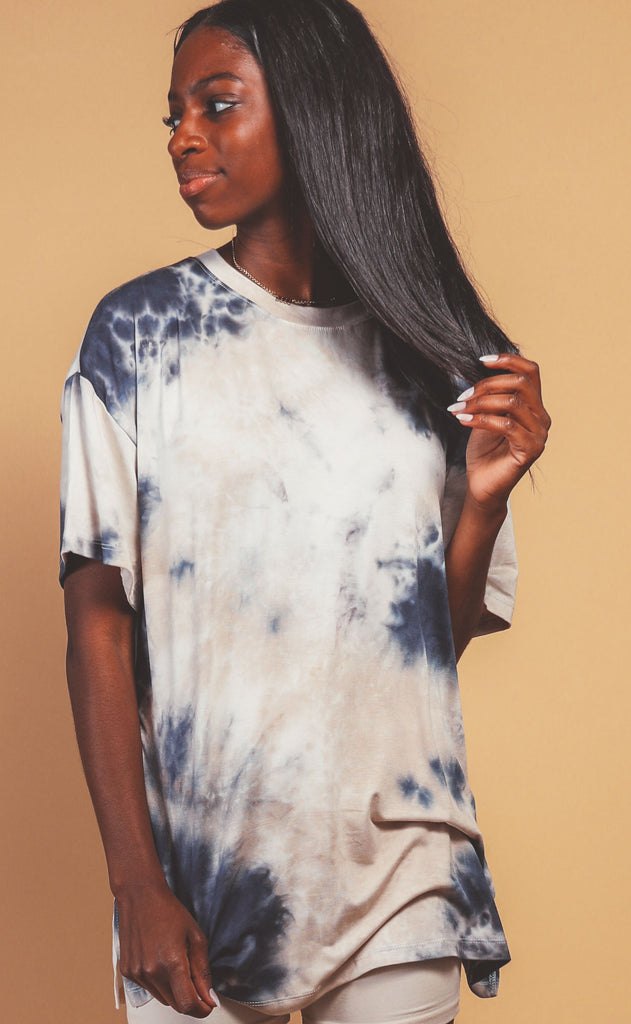 fall sunset tie dye top