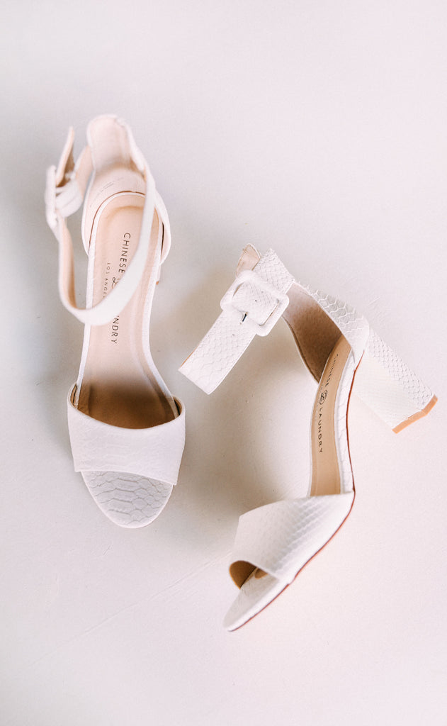 rumor heel - white