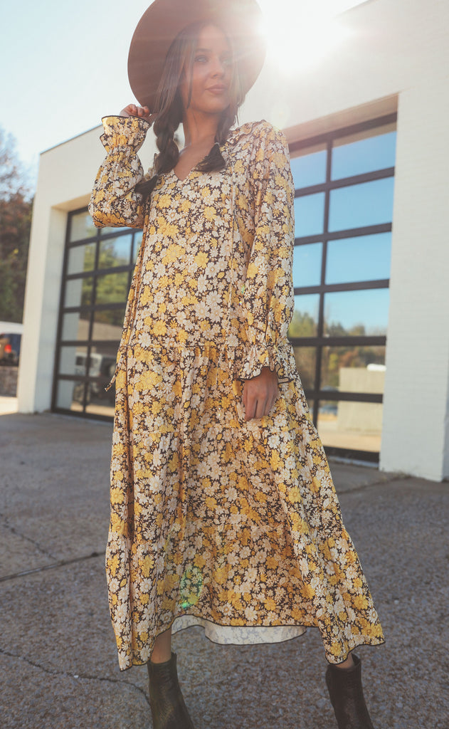forever floral maxi dress