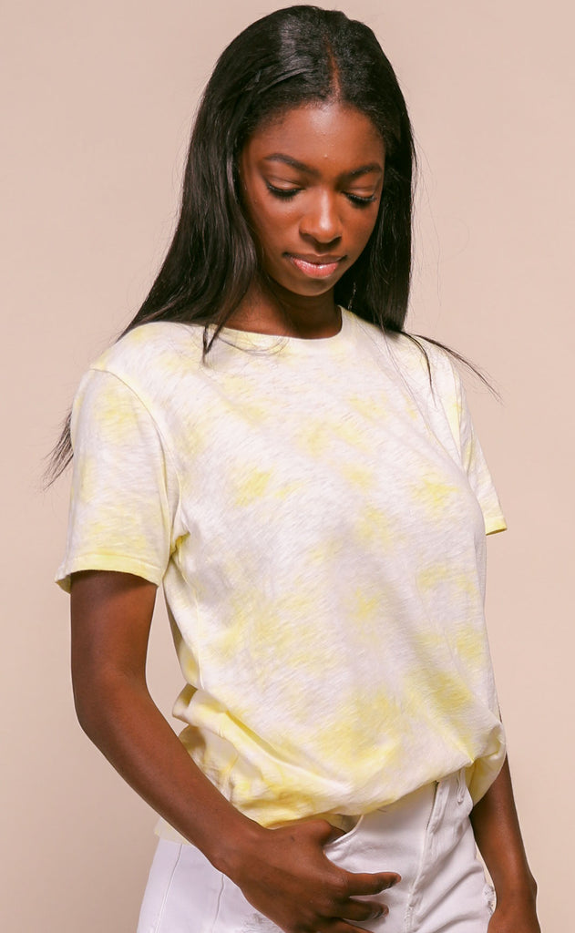 z supply: ultimate tie dye tee - sunny yellow