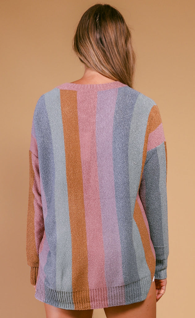 show me your mumu: elodie sweater - dusty stripe knit