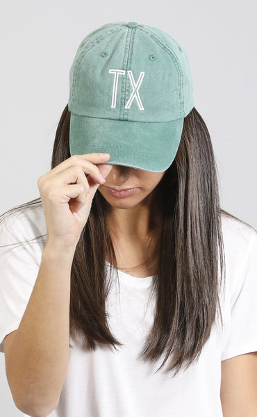 charlie southern: retro state hat - texas [green]
