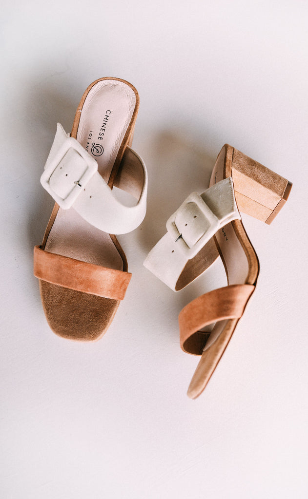 chinese laundry: yippy strappy heel - neutral suede