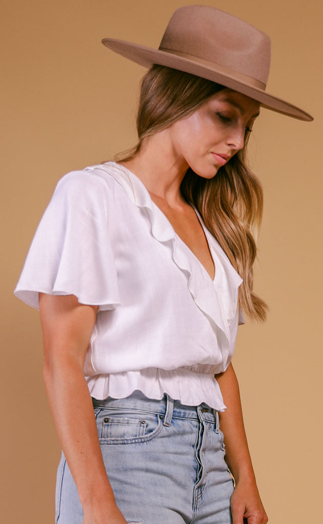 show me your mumu: audrina top - white linen
