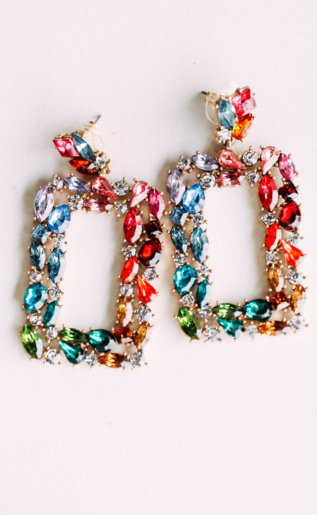 shimmer and shine embellished earrings