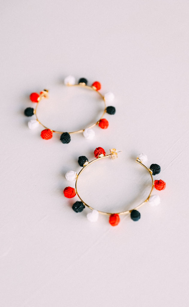 gameday hoop earrings