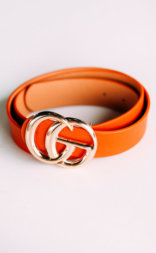 double circle belt - rust
