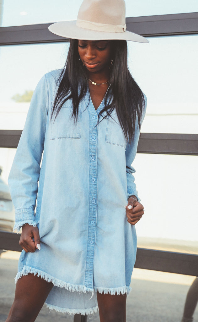 easy street button up dress