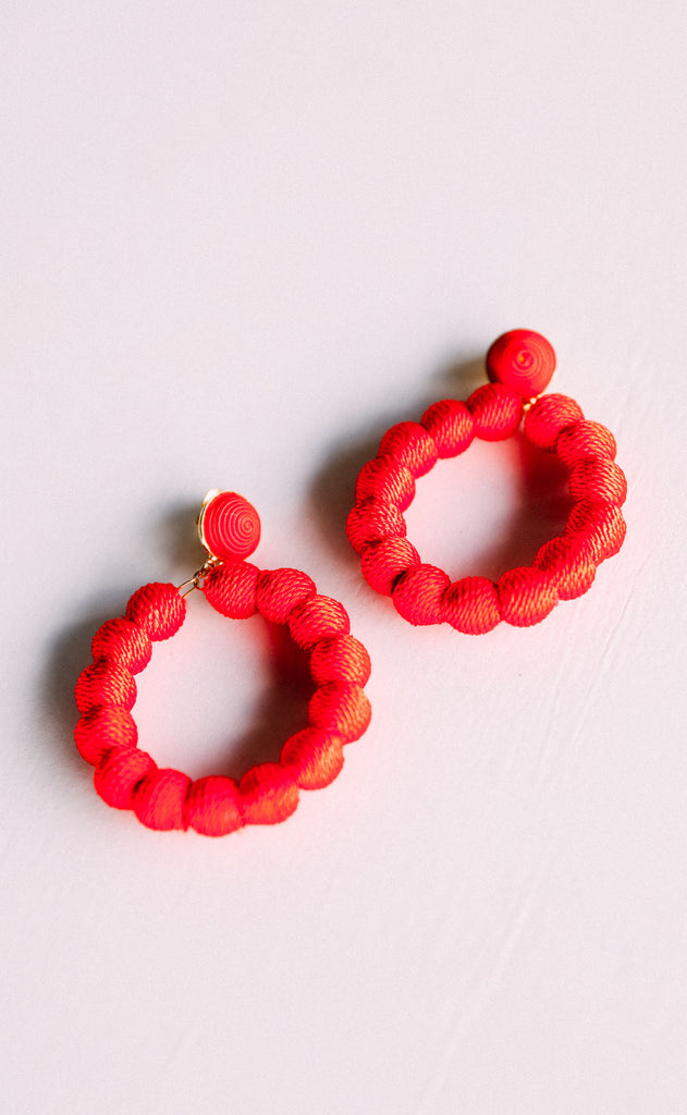 ashley earrings - red