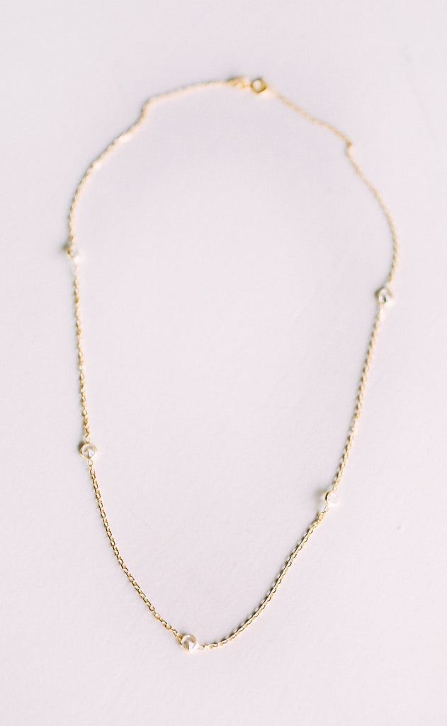 delicate layering necklace - gold