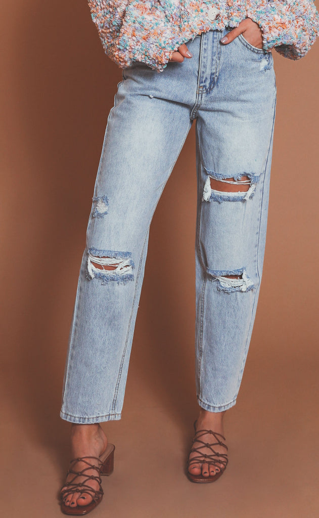 carry on distressed jeans