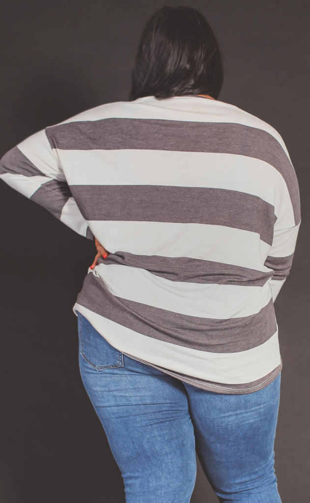 stripe this way basic top - extended