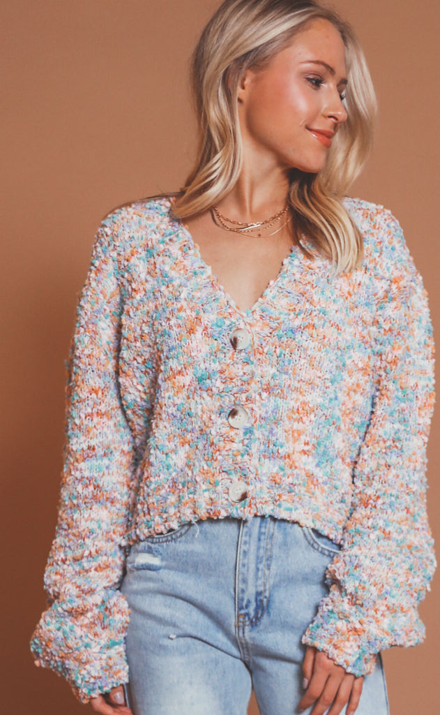 life of the party cropped cardi