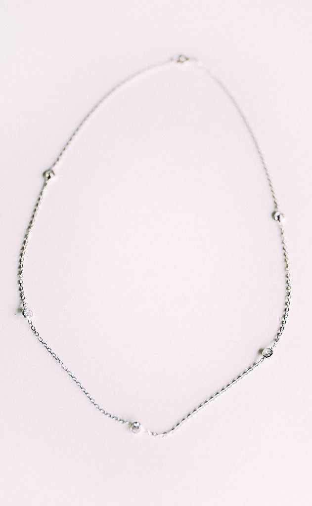 delicate layering necklace - silver