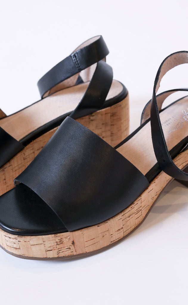 seychelles: calming influence platform sandals - cork