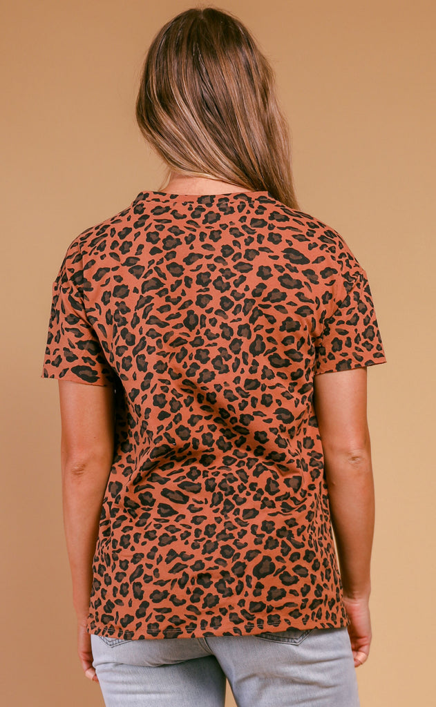 leopard loose fit tee