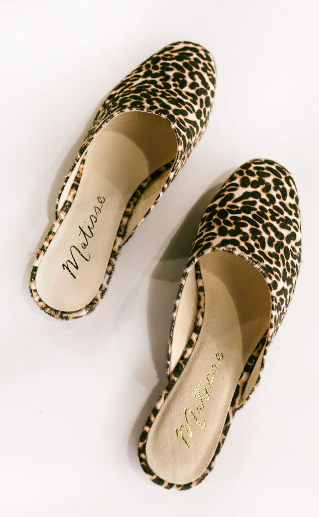 matisse: zip it flat - leopard