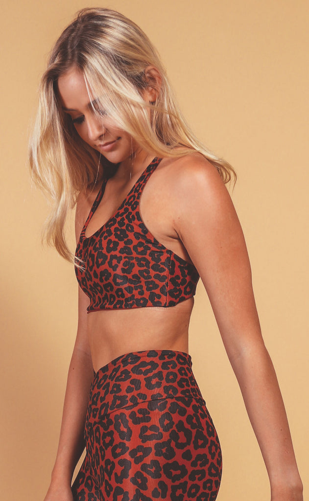 beach riot: rocky top - wine leopard print
