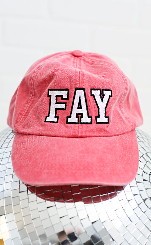 charlie southern: fay outline hat - red
