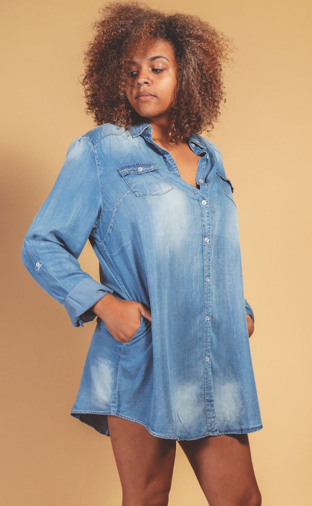 easy street button up dress - extended