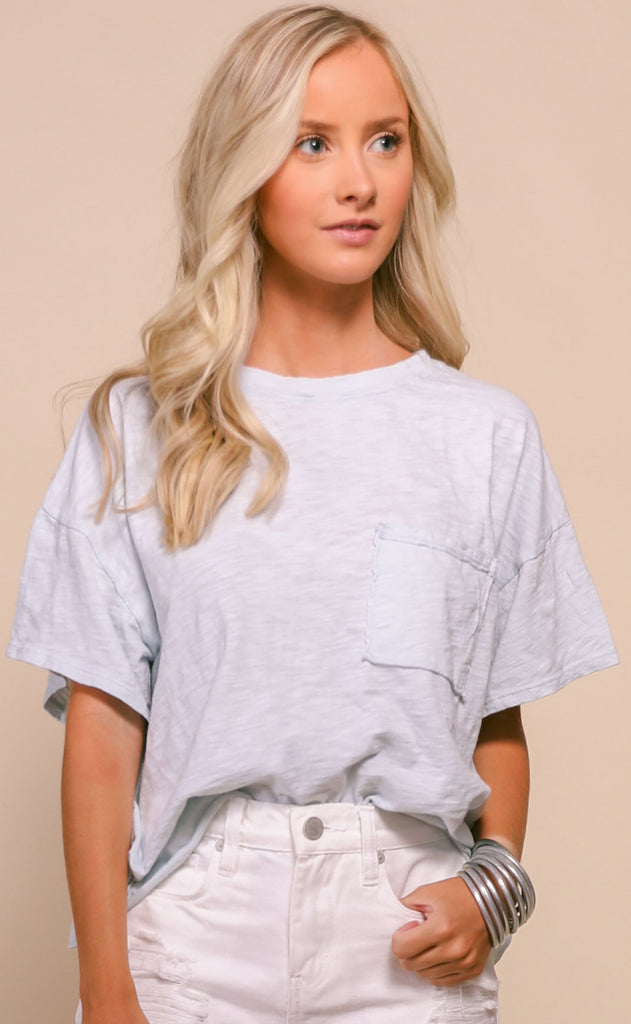 perfectly vintage oversized tee - light blue
