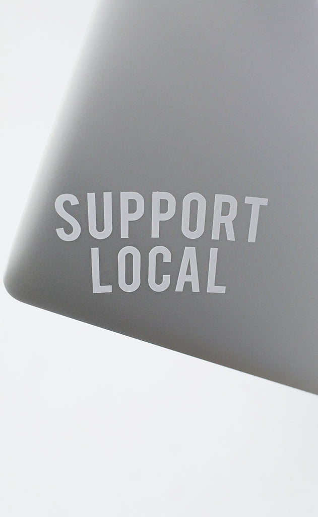 support local car sticker
