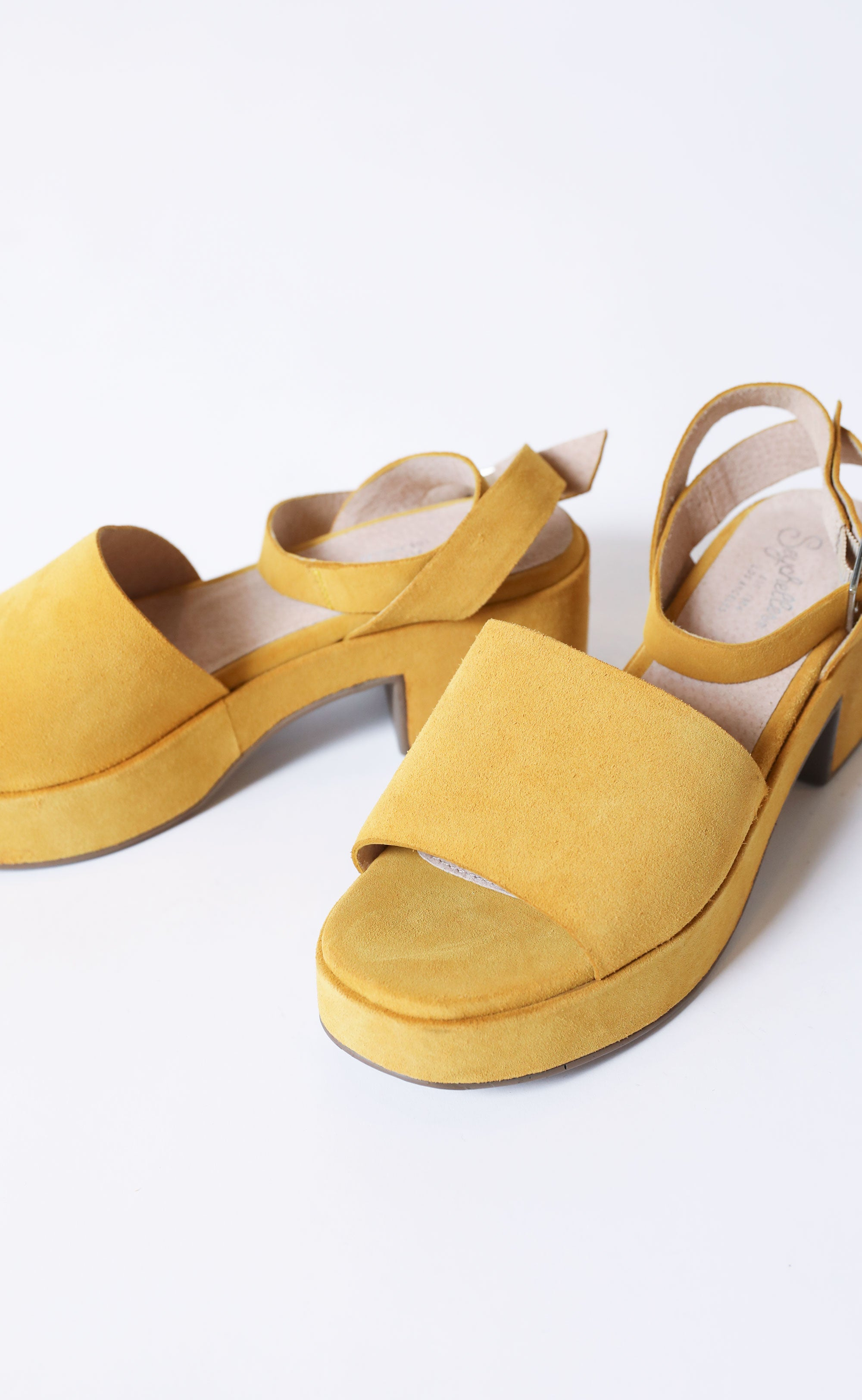 3b28508a2ee seychelles  calming influence platform sandals - yellow suede