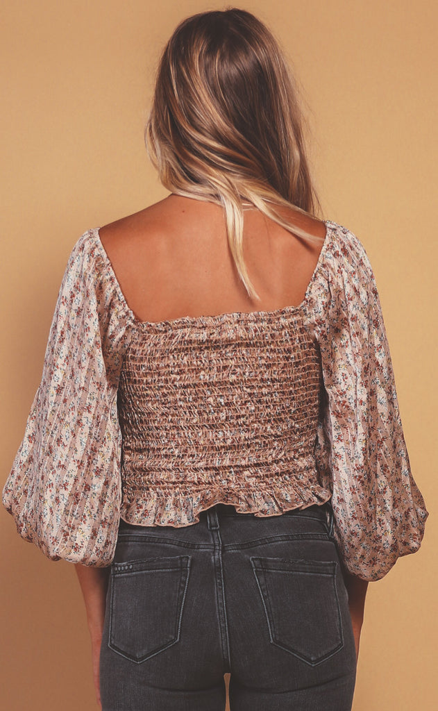fall feeling chiffon top