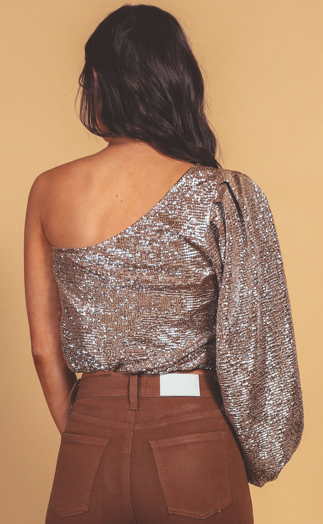 show me your mumu: party top - silver confetti