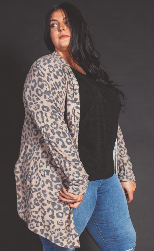 love in leopard cardigan - extended