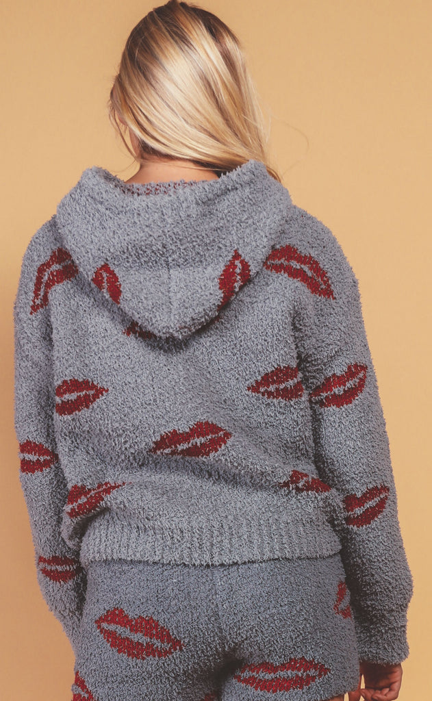 kisses knit sweater