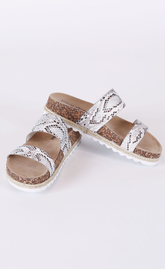 double play slide sandals - snake