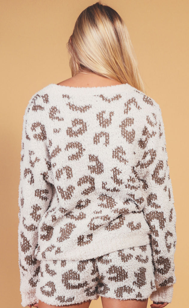 alpine leopard sweater - olive