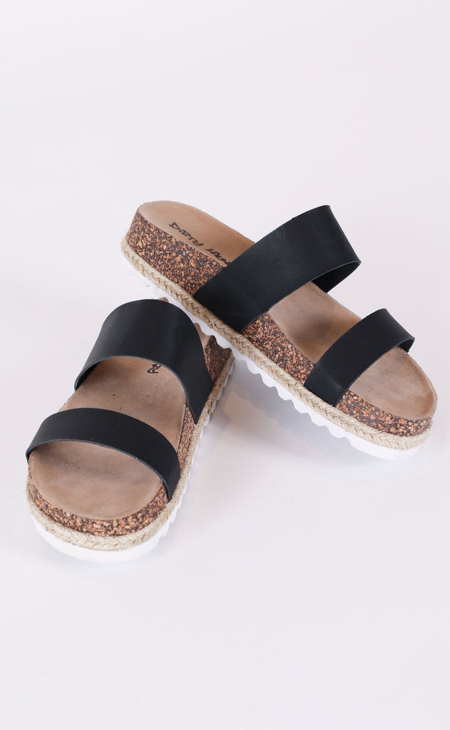 double play slide sandals - black