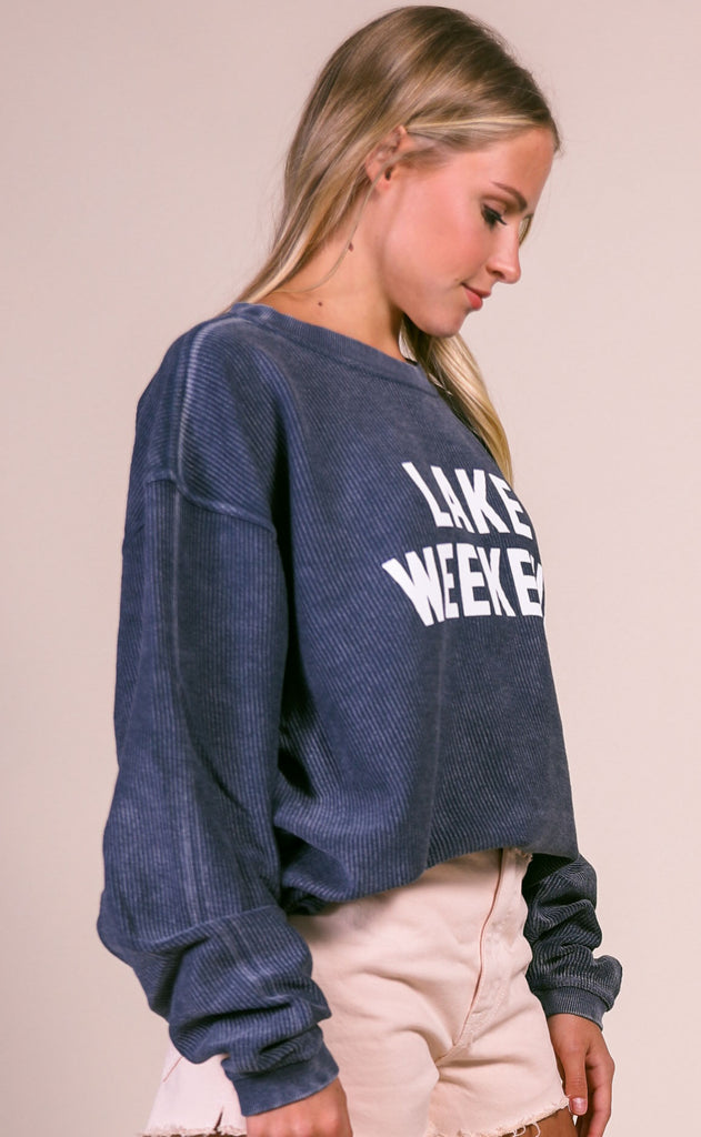 charlie southern: lake weekend corded sweatshirt