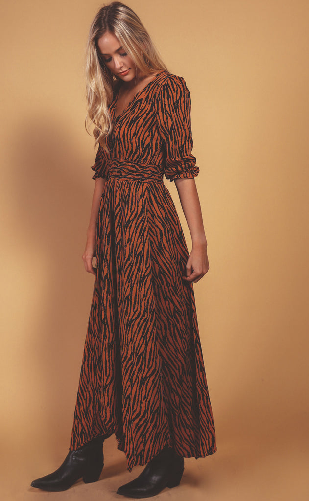 safari classics maxi dress