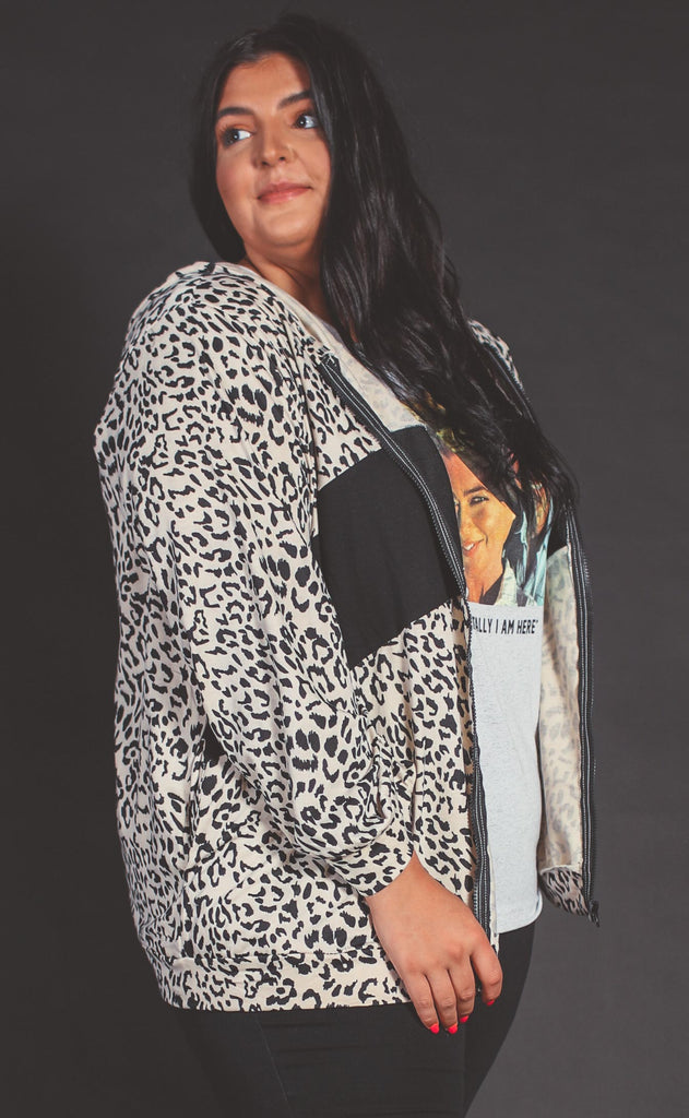 fast track leopard jacket - extended