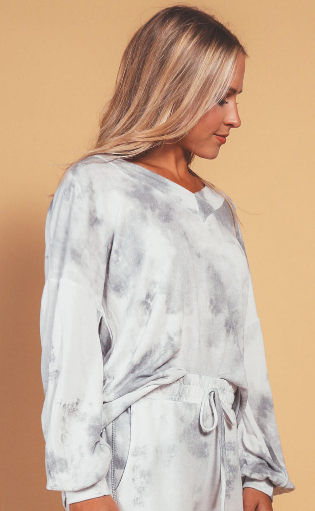 woodstock tie dye sweatshirt - grey