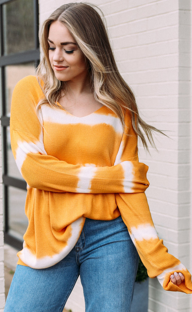 aurora knit sweater - mustard