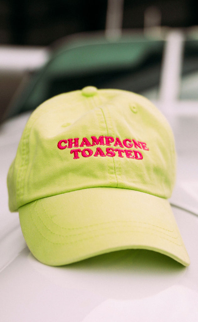friday + saturday: champagne toasted hat - neon/pink