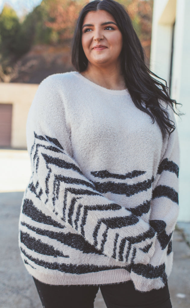 walk on the wild side knit sweater mauve - extended