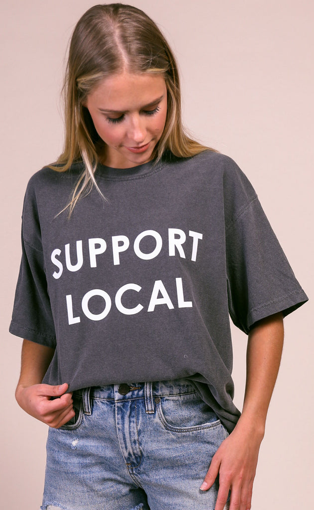 charlie southern: support local comfort colors t shirt